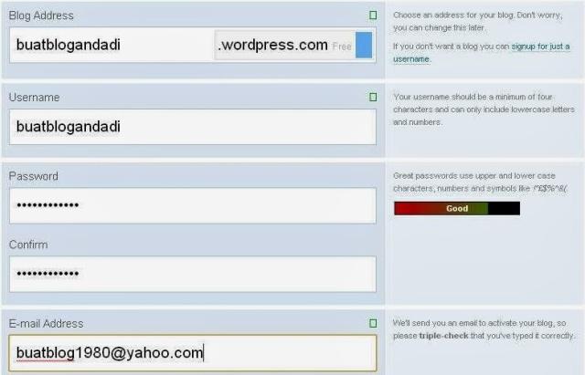 cara membuat blog di wordpress lengkap